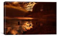 Ouzelden Night Fall, Canvas Print