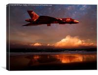 Vulcan at Sunset, Canvas Print
