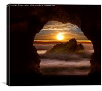 Cave Glow, Canvas Print