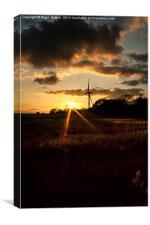 Turbine Sunset, Canvas Print