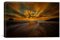 Flat Sea, Canvas Print