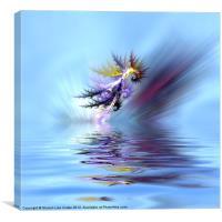 Electrified Seahorse, Canvas Print