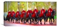 The Queens Life Guards on the Mall, Canvas Print
