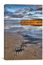 Sea coal, Saltburn sunset, Canvas Print