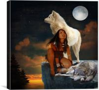Full moon, Canvas Print