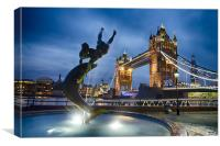Dance at the Tower, Canvas Print