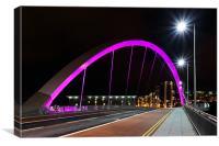 Glasgow Clyde Arc Bridge, Canvas Print