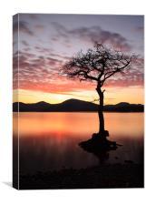 Loch Lomond Sunset, Canvas Print