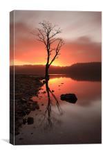 Loch Ard Sunrise, Canvas Print
