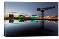 Glasgow River Clyde Waterfront, Canvas Print