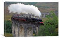 The Jacobite Steam Train, Canvas Print
