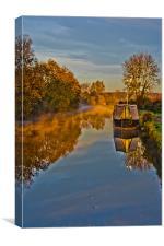 Autumn on the grand union canal, Canvas Print