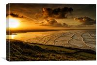 Surfer Sunrise, Canvas Print