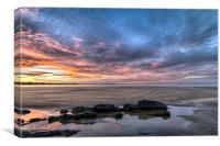 Saunton Sands sunrise, Canvas Print