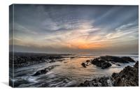 Croyde Bay sea mist sunset, Canvas Print
