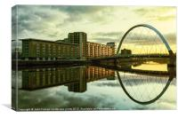 Clyde Arc at sunrise, Canvas Print