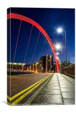 Clyde Arc Squinty Bridge, Canvas Print