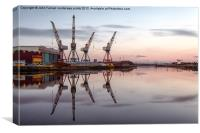 Cranes on the Clyde, Canvas Print