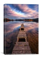 Old Jetty Across the water, Canvas Print