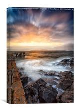 Tomorrow from the jetty, Canvas Print