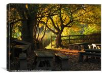 Autumn in the Classroom, Canvas Print