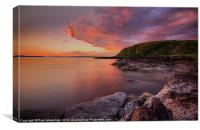 Portencross Sunset, Canvas Print