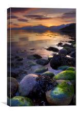 Sunset On Loch Linnhe, Scotland, Canvas Print