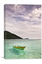 Perhentian Fishing Boat, Canvas Print