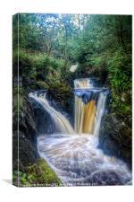 Triple Pecca Falls, Canvas Print