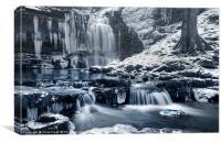 Frozen Scaleber Force Falls, Canvas Print