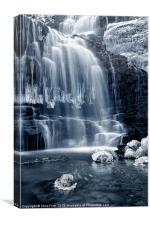 Ice Rocks at Scaleber Force Falls, Canvas Print