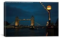 Autumn evening at Tower Bridge, Canvas Print