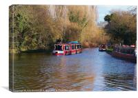 Chesterfield Canal Cruising, Canvas Print