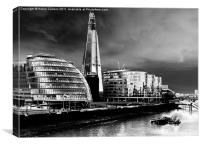 THE SHARD FROM TOWER BRIDGE, Canvas Print