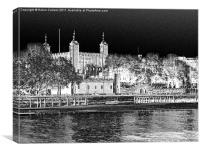 TOWER OF LONDON FROM SOUTH, Canvas Print