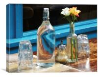 CAFE TABLE, Canvas Print
