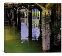 UNDER THE JETTY                                  , Canvas Print