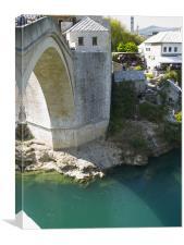 Old bridge in Mostar city, Canvas Print