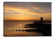 Brightlingsea, Essex, Sunset, Canvas Print
