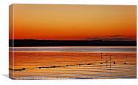Sunset at Night, Canvas Print