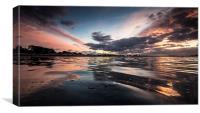 Whitecliff Sunset, Canvas Print