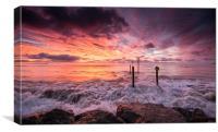 Wave at Sunrise, Canvas Print