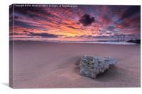 Stone at Sunrise, Canvas Print