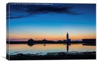 Just before sunrise, Canvas Print