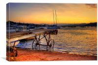 Teignmouth sunset, Canvas Print