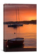Teignmouth sunset 1, Canvas Print