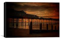 Teignmouth Sunrise, Canvas Print