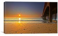 Sunrise by the Pier, Canvas Print