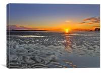 Sandbanks Sunset, Canvas Print