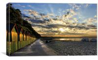Beach Hut Sunrise, Canvas Print